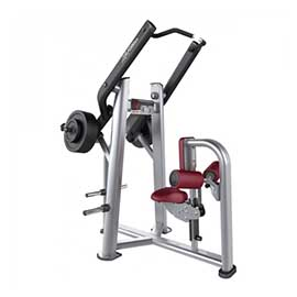 life fitness front pulldown plate load
