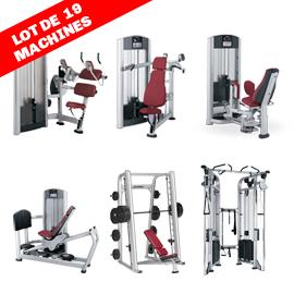 Life fitness - Lot de 19 machines