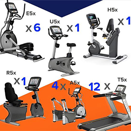 Matrix lot de 25 machines cardio 5x